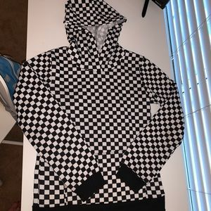 Other - Checkered sweatshirt with pocket and hood